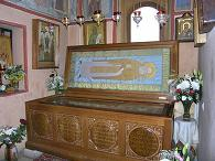 рака с мощами св.праведного Алексия (Мечева), храм свт.Николая в Кленниках