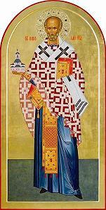 икона свят. Николая Чудотворца в центральном иконостасе