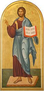 икона Спасителя в центральном иконостасе