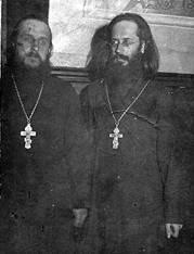 Священники Сергий Борделиус и Владимир Амбарцумов. Князе-Владимирский храм. 1928г.